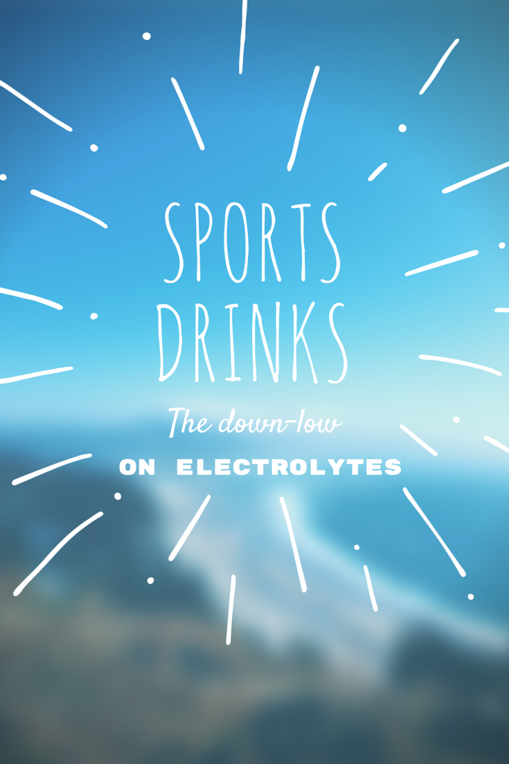 The low down on Sports Drinks